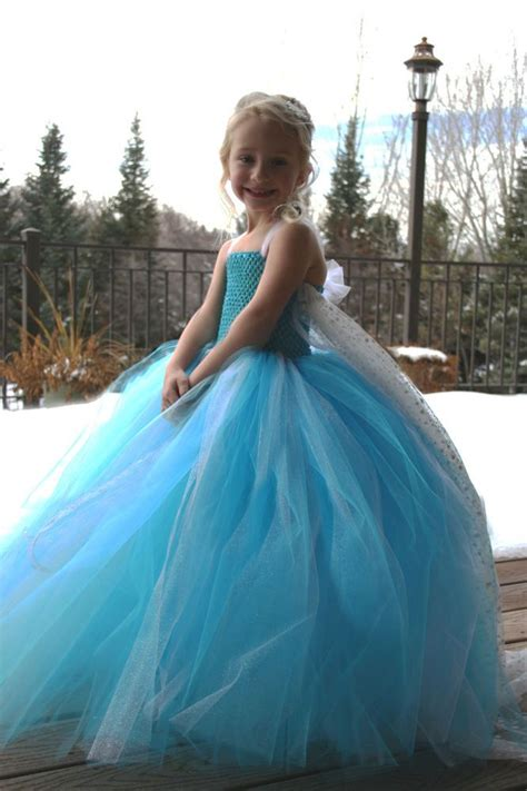 Handmade Elsa Dress - details about disney frozen elsa snow handmade