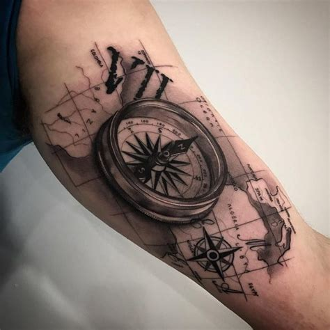 broken compass tattoo compass meaning and designs ideas