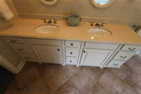 Oasis Countertop by Master Bath Oasis White Cabinets Caesarstone Countertop