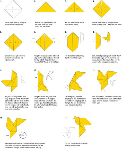 How To Make An Origami Dove - easy origami dove comot