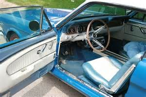 1966 Mustang Pony Interior sapphire blue 1966 ford mustang gt hardtop