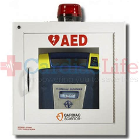 cardiac science aed cabinet cardiac science standard aed cabinet w audible alarm and