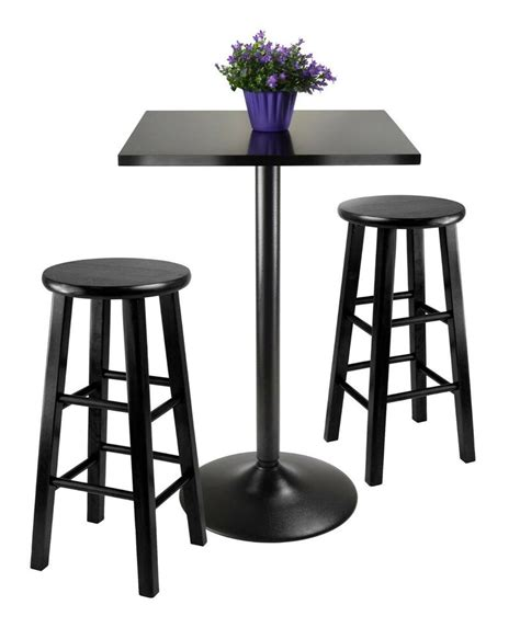 counter height dining set  piece stool bar dinette table kitchen apartment wood ebay