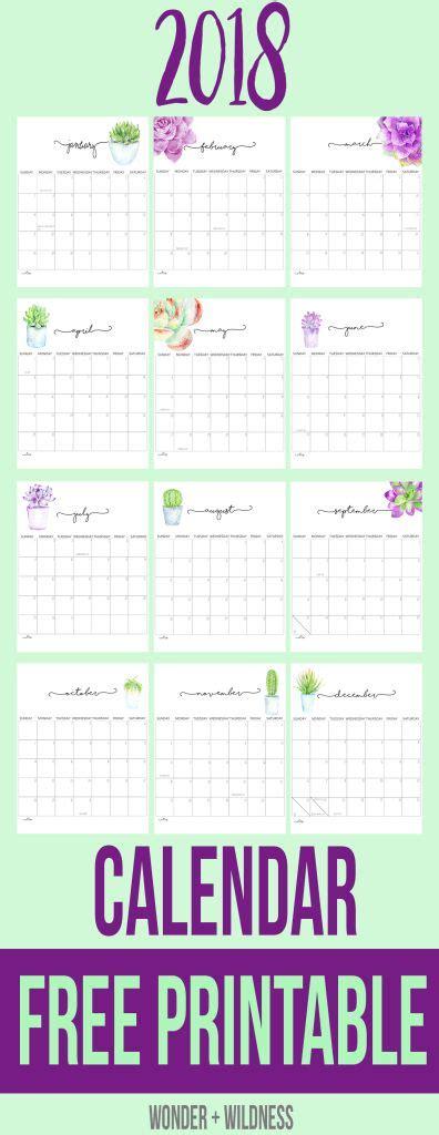 printable calendar 2018 bullet journal free 2018 printable calendar bullet journal pinterest
