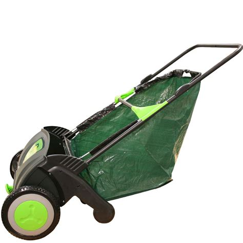 Gardeners Supply Leaf Collector Rhyas Garden Leaf Sweeper Collector Eco Push Lawn Path