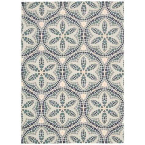 Outdoor Rugs Home Depot by Nourison Home And Garden Aruba Seafoam 5 Ft 3 In X 7 Ft