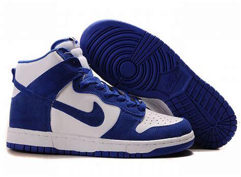original nike dunk sb high top shoes all blue white