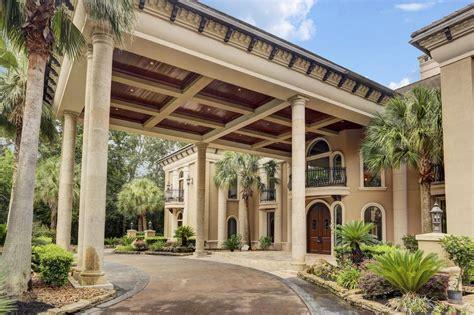 2 Car Garage Square Footage by 7 5 Million Mediterranean Mansion In Houston Tx With 15