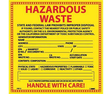 hazardous waste label template muviknow