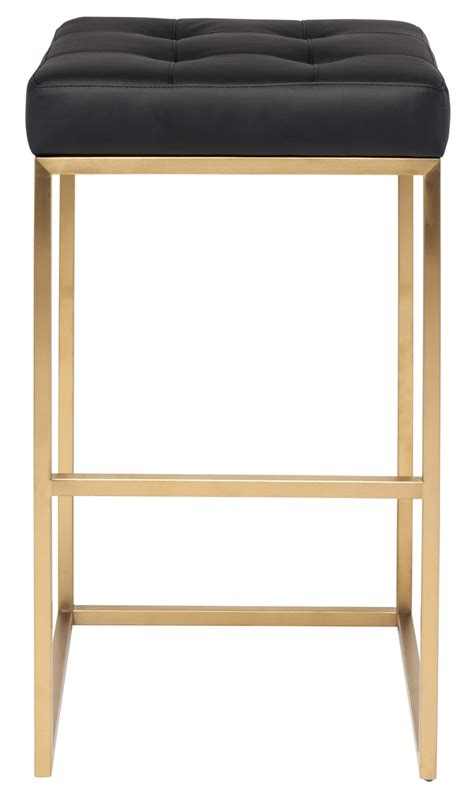 Gold Colored Stool by Gold Chi Bar Stool 29 5 Quot Modern Bar Stool