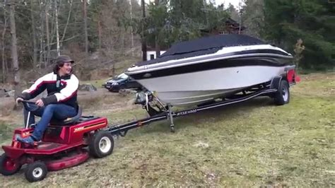 tow boat with lawn tractor can a lawn mower pull a speedboat will this work pulling