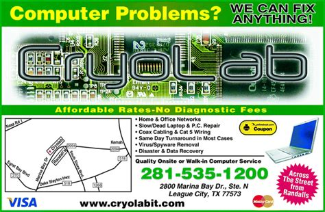 Cryolab Computer Repair & Networking, League City, TX