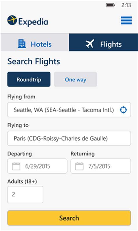 expedia hotels flights indir windows phone i 231 in seyahat ve rezervasyon uygulaması mobil