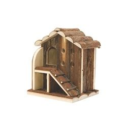 gabbie per orsetti russi 61505 living world tree house real wood 2 level house