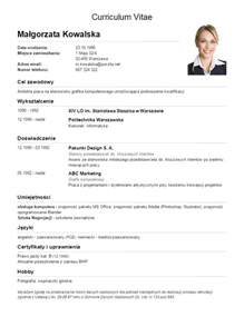 best exle of resume curriculum vitae free