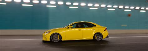 lfa yellow lexus is f sport on vossen cv3 r