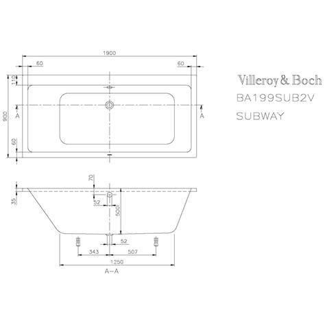 villeroy und boch wanne badewanne villeroy und boch subway subway badewanne sanit r