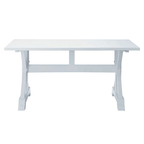 wooden dining table in white w 160cm atlantique maisons