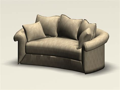free loveseat curved loveseat 3d model 3ds max autocad files free