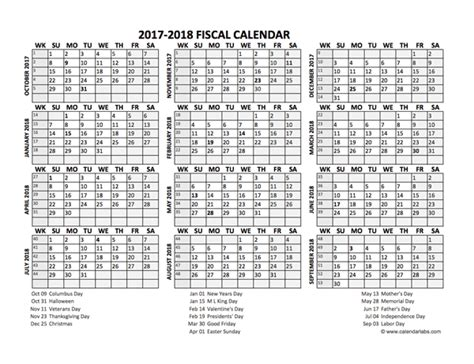 printable year planner 2017 18 fiscal calendar 2017 18 templates free printable templates