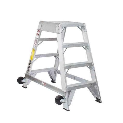 aircraft maintenance step ladders louisville ladder am8004 4 ft aircraft mechanic ladder