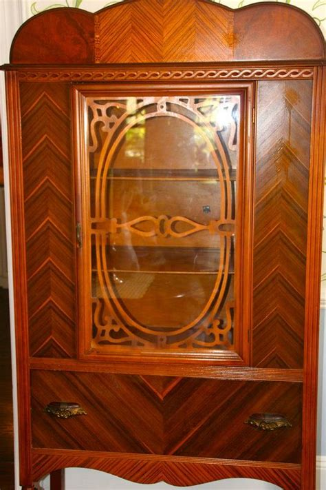deco waterfall china cabinet deco waterfall style china cabinet 1930 s
