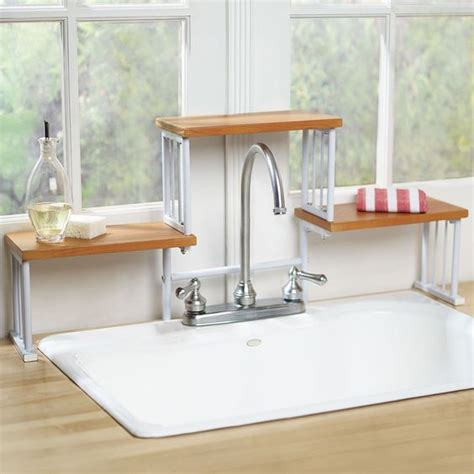 shelf above bathroom sink 2 tier over the sink shelf kitchen faucet space saver