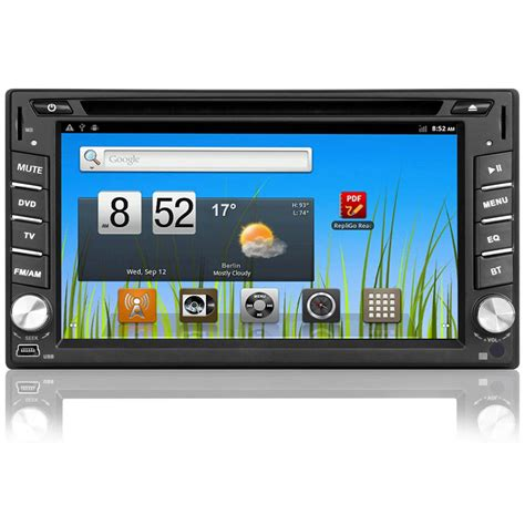 din android 2 din android 4 1 autoradio gps wifi dvd bluetooth doppel navi navigation 6 2 quot ebay