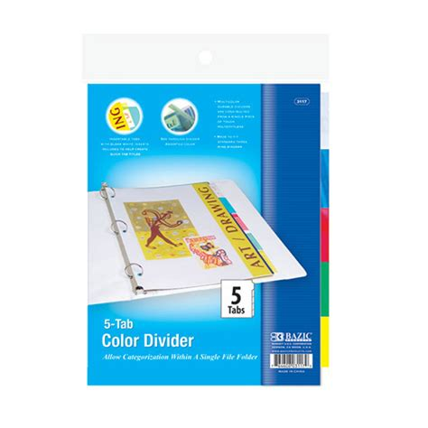 color dividers dividers 5 color tabs