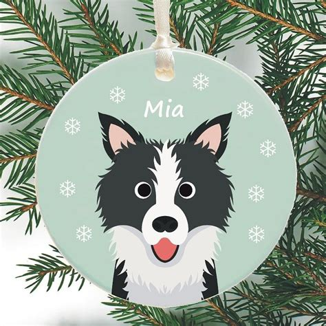 Dog Personalised Christmas Tree Decoration   Choice of