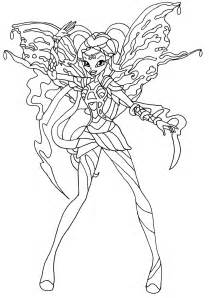 coloriage winx club bloomix