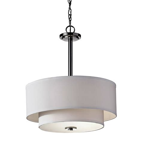 Modern White Pendant Light Modern Drum Pendant Light With White Jen Joes Design How To Make Drum Pendant Lighting