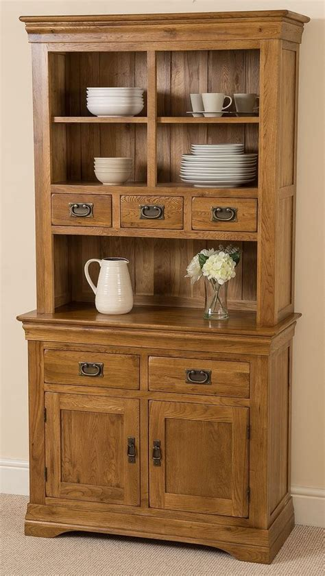 rustic solid oak small dresser cabinet wall