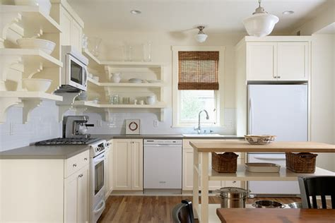 kitchen open shelves clock pendant l plates cups sink faucet picking a kitchen cabinet style is challenging home tips