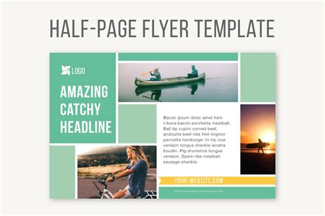 templates for half page flyers half page flyer template templates creative market