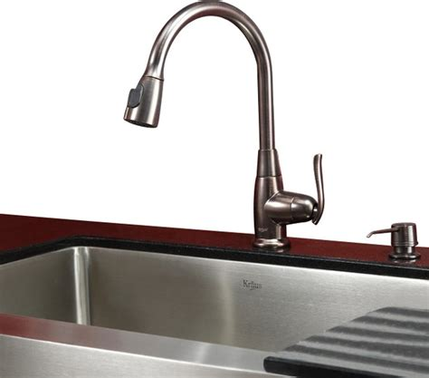 30 in farmhouse kitchen sink rubbed bronze faucet