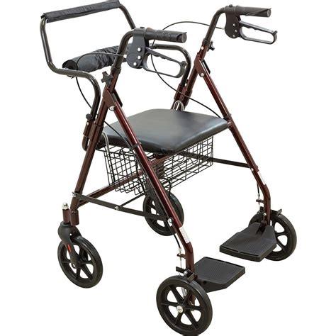 rollator with seat roscoe transport rollator with padded seat transport