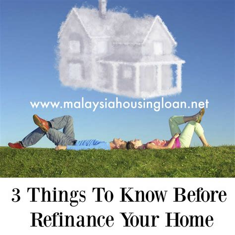 3 things to before refinance your home