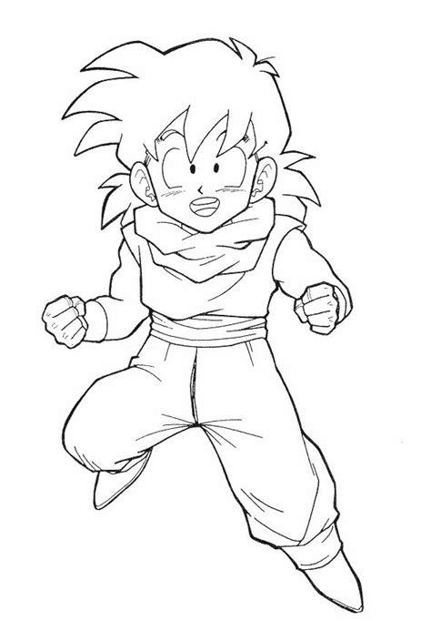 Dragon Ball Z Son Gohan Still Children Dragon Ball Z Z Gohan Coloring Pages