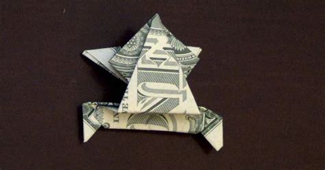Origami Dollar Bill Frog - dollar origami jumping frog how to make a dollar frog