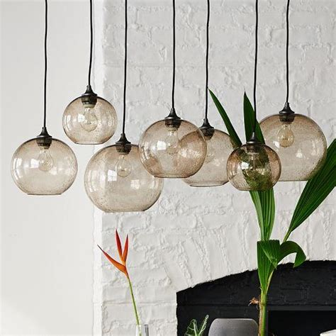 Glass Orb Chandelier Glass Orb Chandelier Luster West Elm