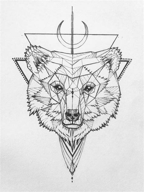 geometric bear tattoo 151 best images on designs