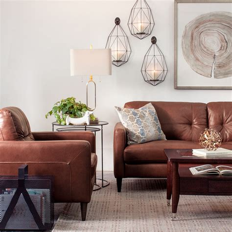 Brown Living Room Chairs Decorating With Brown Leather Furniture Tips For A Lighter Brighter Look Schneiderman S