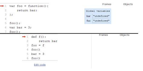 environment diagram python query on execution environment of javascript python