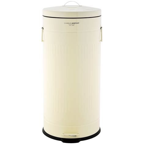 bentley cream bentley home 30l retro kitchen bin buydirect4u