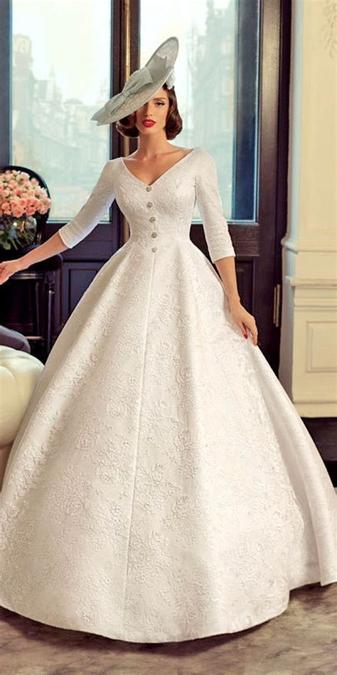 Retro Fashion Vintage Wedding Dresses by 25 Sleeve Wedding Dresses You Will Fall In With