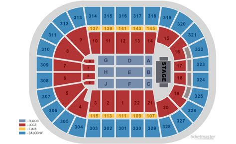 Td Garden Seating Chart Concert td garden boston ma seating chart view