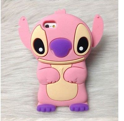 Softcase Back Lucu 3d Stitch Soft Cover Iphone 4 4s soft silicone stitch 3d movable ear cover soft iphone 5 5s 5c 4 4s 6 6 plus cases covers