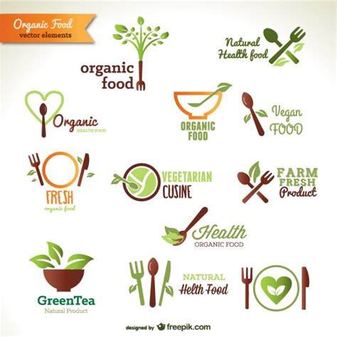tattoo logo free food organic food logos vector free download