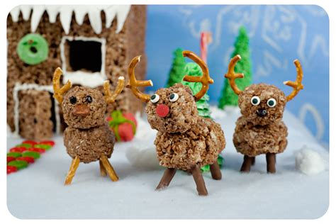 hot cocoa krispies reindeer